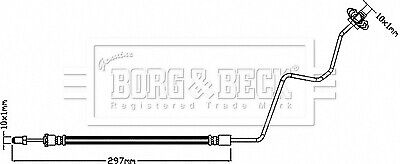 CITROEN DS3 Brake Hose Rear Outer Left or Right 1.6 1.6D 09 to 15 Hydraulic B/&B