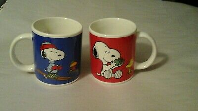 peanuts  Snoopy ceramic coffee cups
