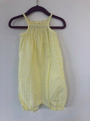 SEED HERITAGE Yellow Summer Romper Playsuit Sz 12-18 Months Girls