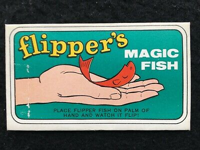 "1966 Topps Flipper's Magic Fish #2 Red Seal ""Magic"" Insert - Good"