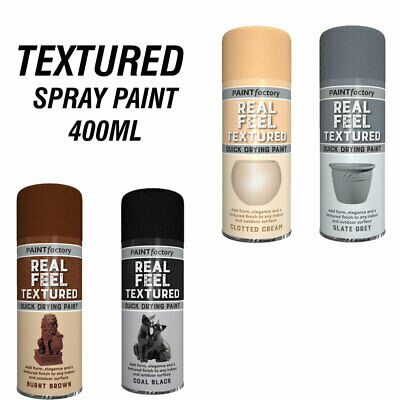 Textured Spray Paint Multi Colour Stone / Metal Effect Decorative 400ml FREE P&P