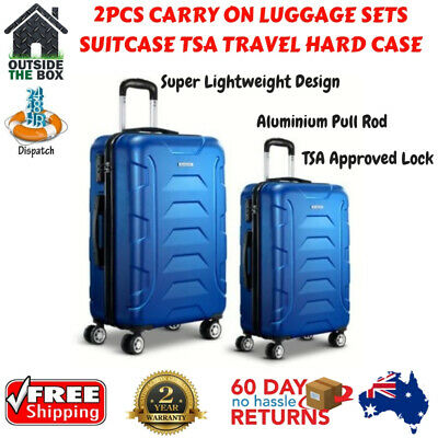 2pcs Luggage Carry Suitcase TSA Travel Hard Case Lightweight Trolley Storage Set