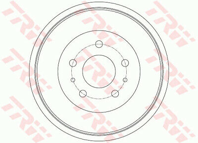 FORD FOCUS Mk3 Brake Drum Rear 1.6 1.6D 2010 on 228mm TRW 1781451 BV611126BB New