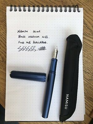 Namisu Ixion Blue Fountain Pen - Bock Steel Medium Nib
