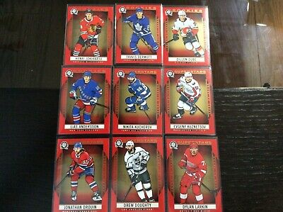 2018 2019 o pee chee OPC Coast to Coast Red Parallel 9 lot Superstars + Rookies