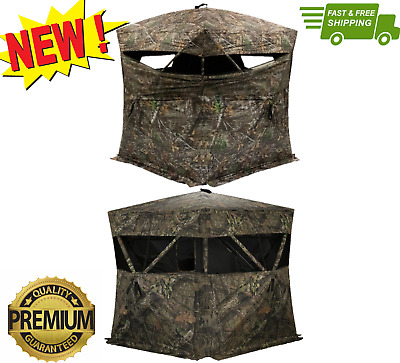 Rhino Blinds Deer Hunting Ground Blind Stand Free Standing Game Camo Durable NEW