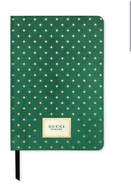 Gucci Memoire d'une Odeur Limited Edition Journal Note Book Green / Gold  New