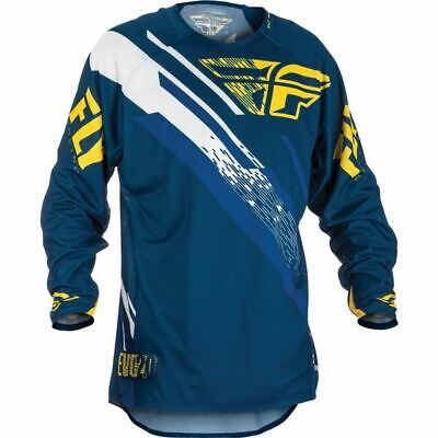 Blue/Yellow/White Sz XL Fly Racing Evolution 2.0 Youth Motocross Jersey
