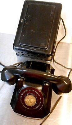 Western Electric WWII Era    Ringer Box w/ Antique Telephone