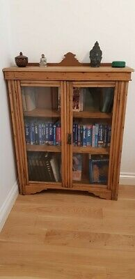 antique bookcase pine display shelf victorian stripped drawers waxed