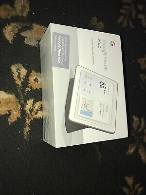 ** Brand New ** Google Home Hub with Google Assistant - GA00515-US Charcoal