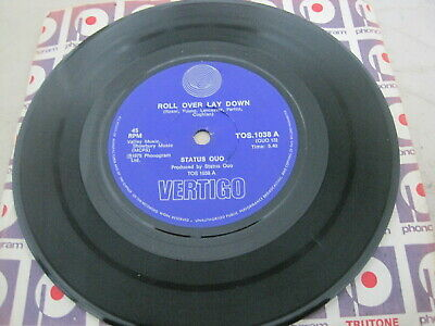 """STATUS QUO - Roll Over Lay Down (7"""" 45, South Africa)"""