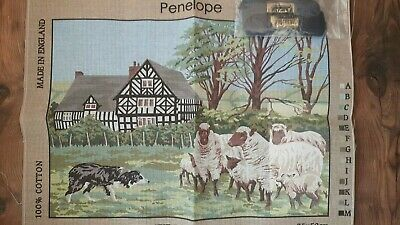 Penelope Tapestry Canvas - The Border Collie