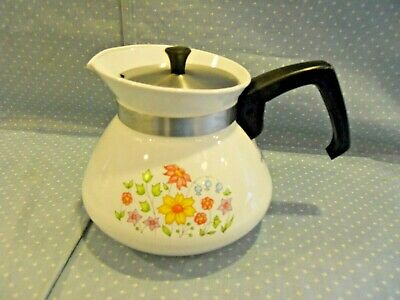 Vintage Corning Ware Spring Meadow 6 Cup Tea Pot P-104