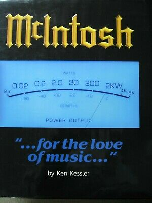 """New McIntosh """"for the love of music"""" Book by Ken Kessler"""