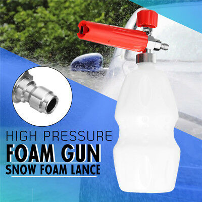 1/4'' Car Washer Foam Gun Red Cannon Lance High Pressure Snow Soap Bottle 1L