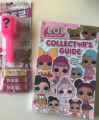 LOL Surprise! Doll COLLECTOR'S GUIDE Book & PEZ Candy Dispenser - Free Shipping