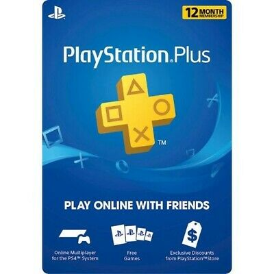 (US only) *INSTANT DIGITAL CODE* PlayStation Plus: 12 Month Membership - PS4
