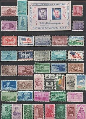 Us,1075,Mid-Century,Vintage,1950'S,Lot Of 42 Collection Mint Nh,Og