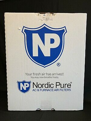 Nordic Pure 18x25x1 MERV 8 Pleated AC Furnace Air Filters, 6 PACK