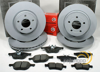 Ford Focus 1.6 Front Rear Brake Pads Discs Set 278mm Vented 265mm Solid 118 OEM