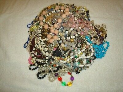 10 Lbs Pounds Estate Costume Jewelry All Wearable Bulk Lot Grab Bag