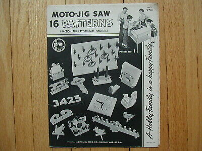1956 Dremel Moto-Jig Saw 16 Practical & East-to-Make Projects