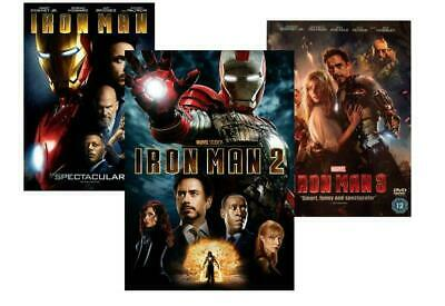 Iron Man 1, 2, and 3 DVD Bundle (Complete Trilogy)  Brand New!  Free Shipping!