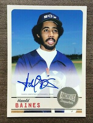 2019 Topps Archives Snapshots Base Card Autographs ~ Pick your Card