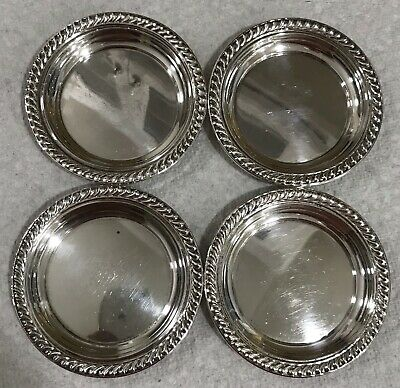 Watson E13 Vintage Set Of 4 Sterling Silver Nut Candy Dishes