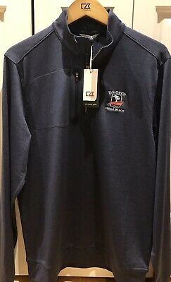 "Nwt Men Cutter & Buck ""2019 U.s. Open Pebble Beach"" Half Zip Pullover L"