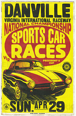 """1930s """"Kentucky State Fair"""" Vintage Style Auto Racing Poster 24x36"""