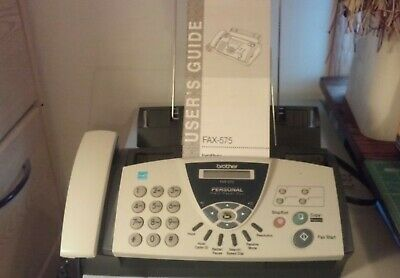Brother Fax-575 Personal Plain Paper Fax Phone and Copier  - with User's Guide