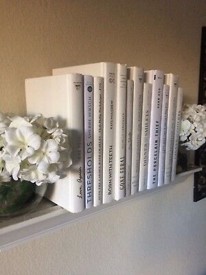 Lot Of 10 Winter White Staging Books- Interior Design/Wedding/Modern/ Shabby