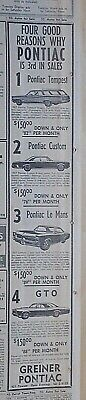 1966 newspaper ad for Pontiac - 1967 GTO, Le Mans, Custom, Tempest Wagon