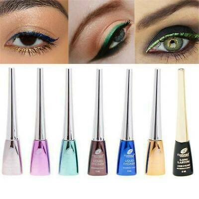 6 Colors GLITTER Waterproof Eyeshadow Liquid Eyeliner Makeup Shimmer Metallic