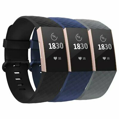 3 Pack Watch Wrist Sports Strap For Fitbit Charge 3 Band Wristband Replacement