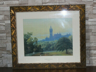 Large Gold Bronze Antique Style Photo Picture Frame - university of glasgow