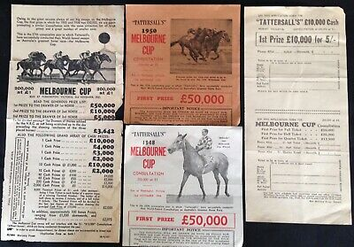 "Ephemera - Vintage""Tattersall's""  Melbourne Cup Ticket Applications."