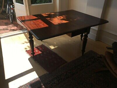 Party Table: Victorian Dropleaf Mahogany Dining Table that folds