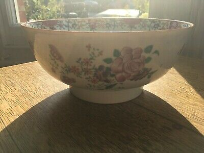 Antique 18th Cent. possibly English Lowestoft Porcelain Chinese Export Style Pun