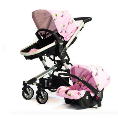 Otti Urban Ranger 2 Pink Travel System Pushchair Pram & Car Seat