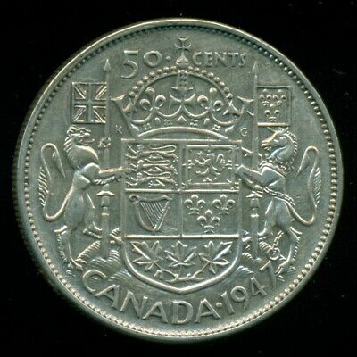 1947 St. 7L King George VI, Canada 50 Cent