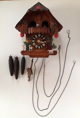 Vintage Hand Made Wooden Cuckoo Clock Made in West Germany (For Repair Only)
