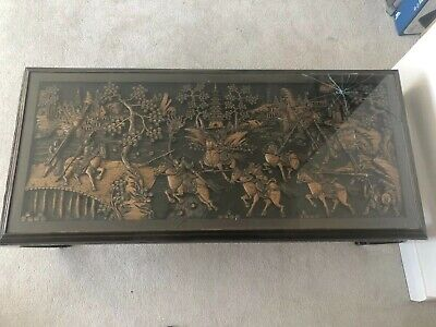 Hand Carved Japanese Coffee Table antique