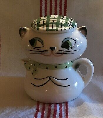 1959 Holt Howard Cool Cozy Cat Stacking Sugar Creamer Excellent