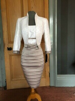 Gorgeous Bnwt Luis Civit Mother Of The Bride/Evening Dress And Bolero, Size 10