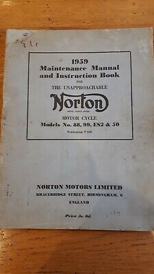 Motorcycle Manuals & Literature Owner & Operator Manuals 0833 1959 ...
