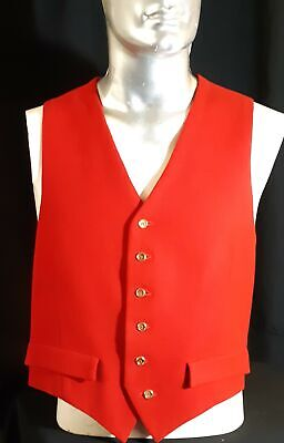 Wool waistcoat, red, USA, 1970's, size L