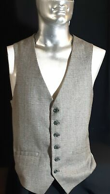 Tweed Waistcoat with sage backing, USA, 1970's size L